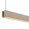 Glide Wood Downlight - End Feed, Wood Maple - Click to Enlarge