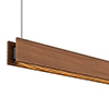 Glide Wood Downlight - End Feed, Wood Walnut - Click to Enlarge