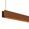 Glide Wood Downlight - End Feed, Wood Cherry - Click to Enlarge