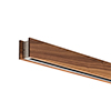 Glide Wood Downlight Center Feed, Wood Walnut - Click to Enlarge
