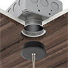 "Vanishing Point 2"" Flush Canopy for Millwork Ceiling, with ELV power supply in J-Box - Click to Enlarge"