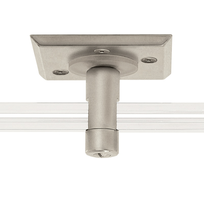 "Monorail 2"" Square<br>Single Feed Power Canopy (Polished Nickel)"
