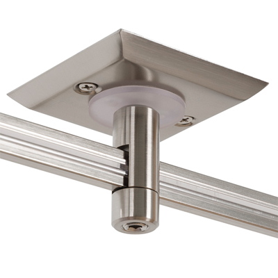 "Monorail 2"" Square Single Feed Power<br>Canopy (Satin Nickel)"