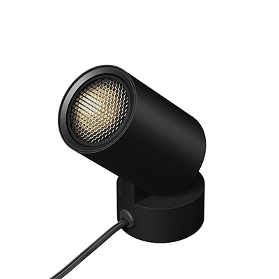 Big-Shorty Uplight/Spotlight, Black Finish