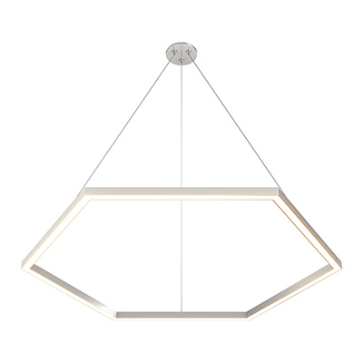 Cirrus MIYO Hexagon, With Lit Corners 24VDC LED Make-It-Your-Own Suspension,<br />Static White And Warm Dim, Satin Finish