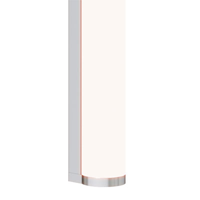 Twiggy T1 Wall Vertical Dynamic/Tunable White<br />With Remote 24VDC Power Supply in Satin Aluminum, 4000K