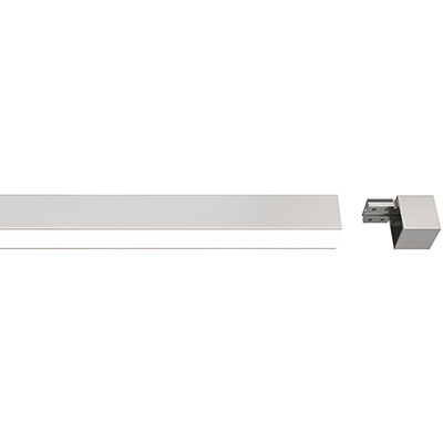 Zip Shelf And Desk Light Modular, Diffused White Lens with Modular End Cap
