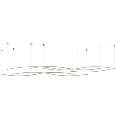 Zip Wave Dynamic Tunable White LED Suspension Downlight with Remote Power - End Feed