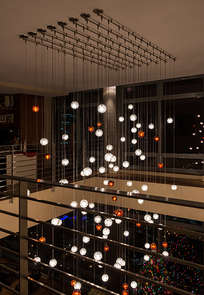 Edge Lighting Bubble Ball Led Pendant Indoor Lighting