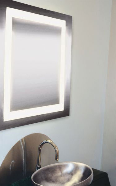 Edge Lighting Plaza Small Led Dimmable Mirror Indoor