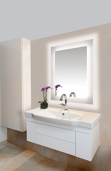 Edge Lighting Sail Led Dimmable Mirror Indoor Lighting