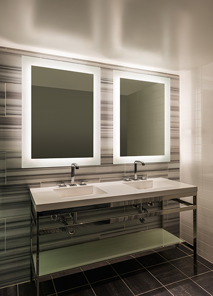 Edge Lighting Sail Led Dimmable Mirror Indoor