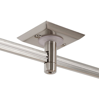 Monorail 2  Square br   Single Feed Power Canopy br    Satin Nickel and br   Antique Bronze