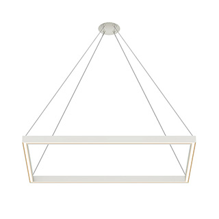 Nova Up Down MIYO br    Make It Your Own  br   Rectangle Lit Corners LED Suspension br    span class  with power green  with Power  span