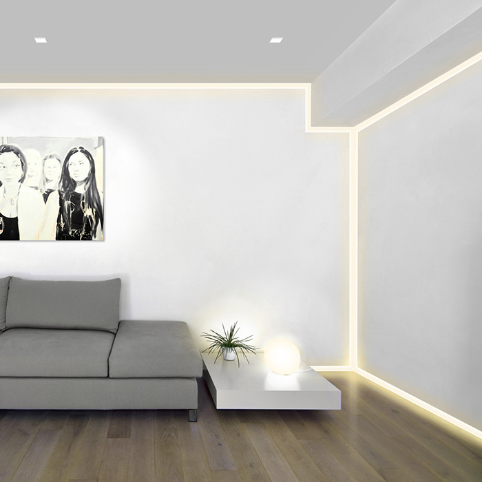 Pure Lighting Verge Plaster In Led System